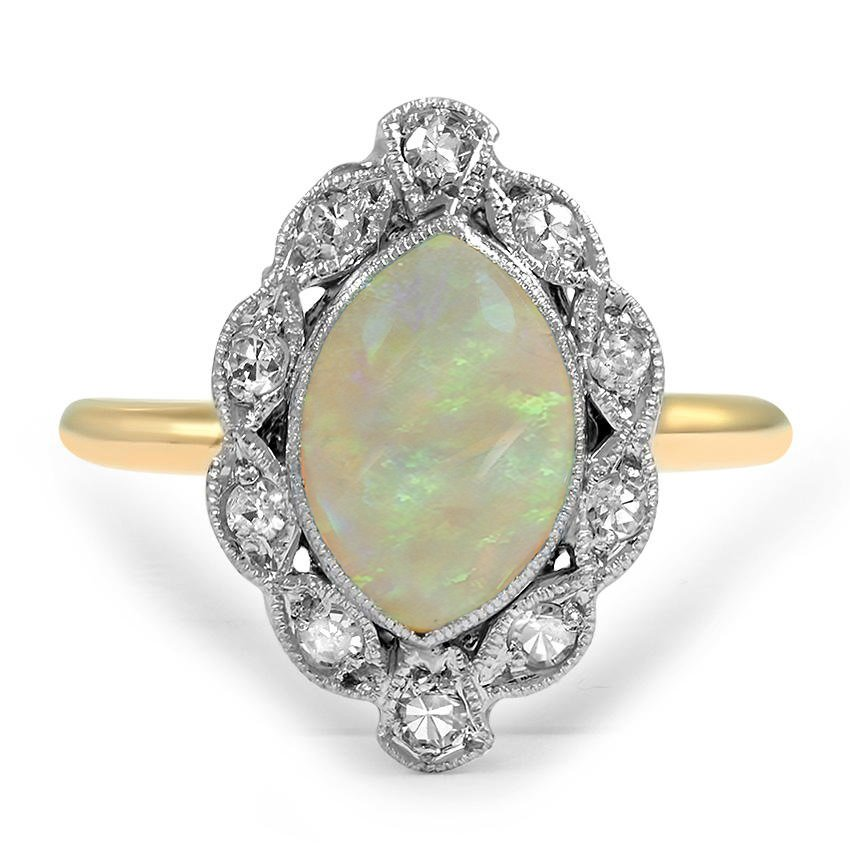 Art Deco Opal Vintage Ring