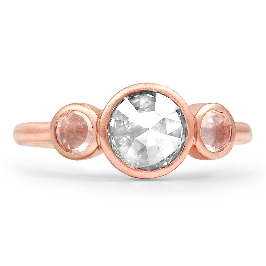 Top Twenty Custom Rings - ROSE CUT THREE STONE RING