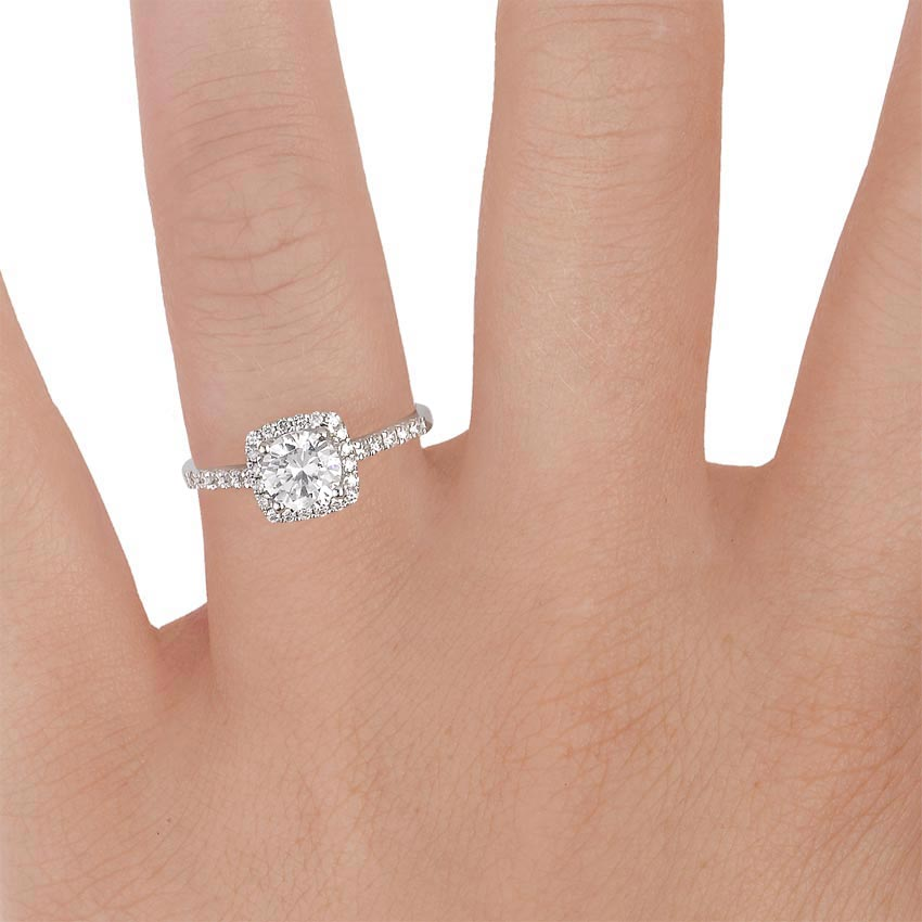 18k White Gold Odessa Diamond Ring 1 4 Ct Tw With Petite Comfort