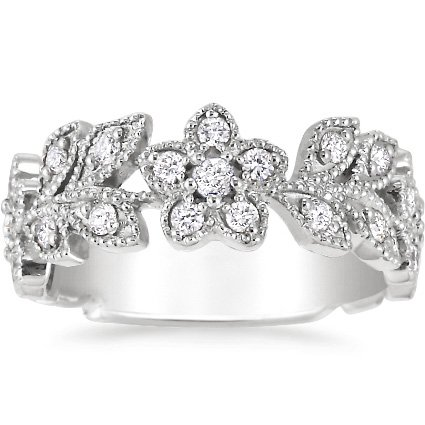Jasmine Ring (1/2 ct.tw.) in 18K White Gold