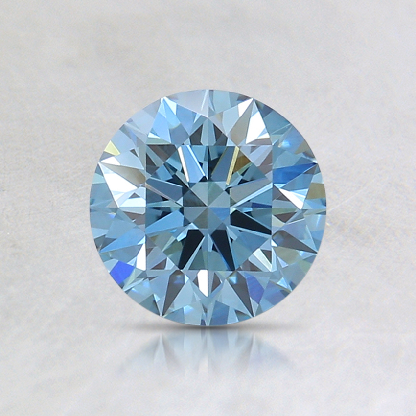 0.76 Ct. Fancy Intense Blue Round Lab Created Diamond