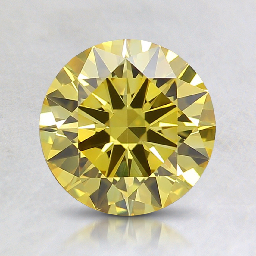 1.24 Ct. Fancy Yellow Round Lab Created Diamond