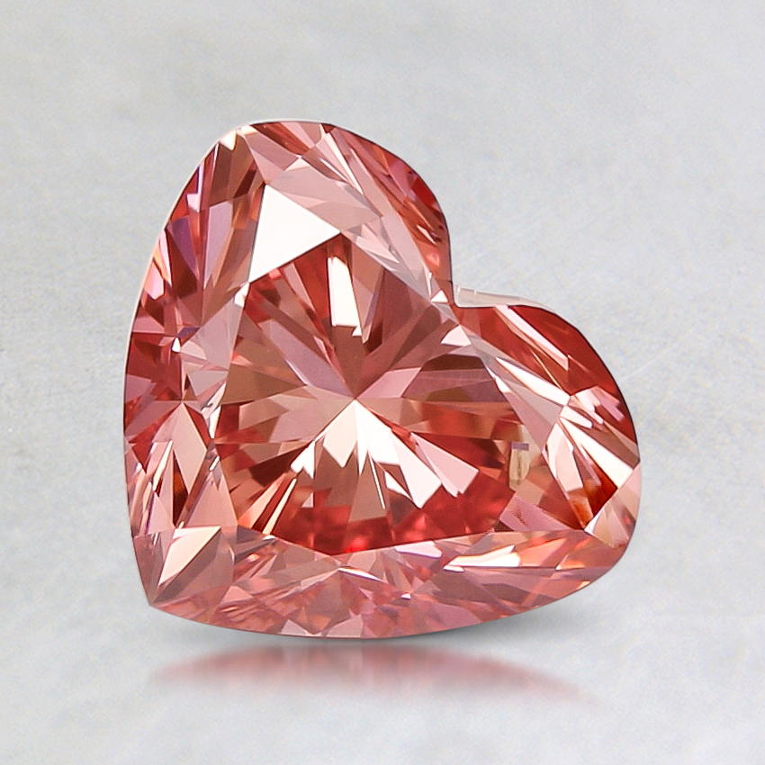 1.45 ct. Lab Created Fancy Vivid Pink Heart Diamond