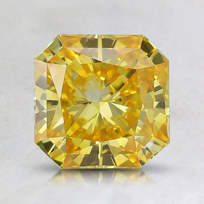 1.57 Ct. Fancy Vivid Orangy Yellow Radiant Lab Created Diamond