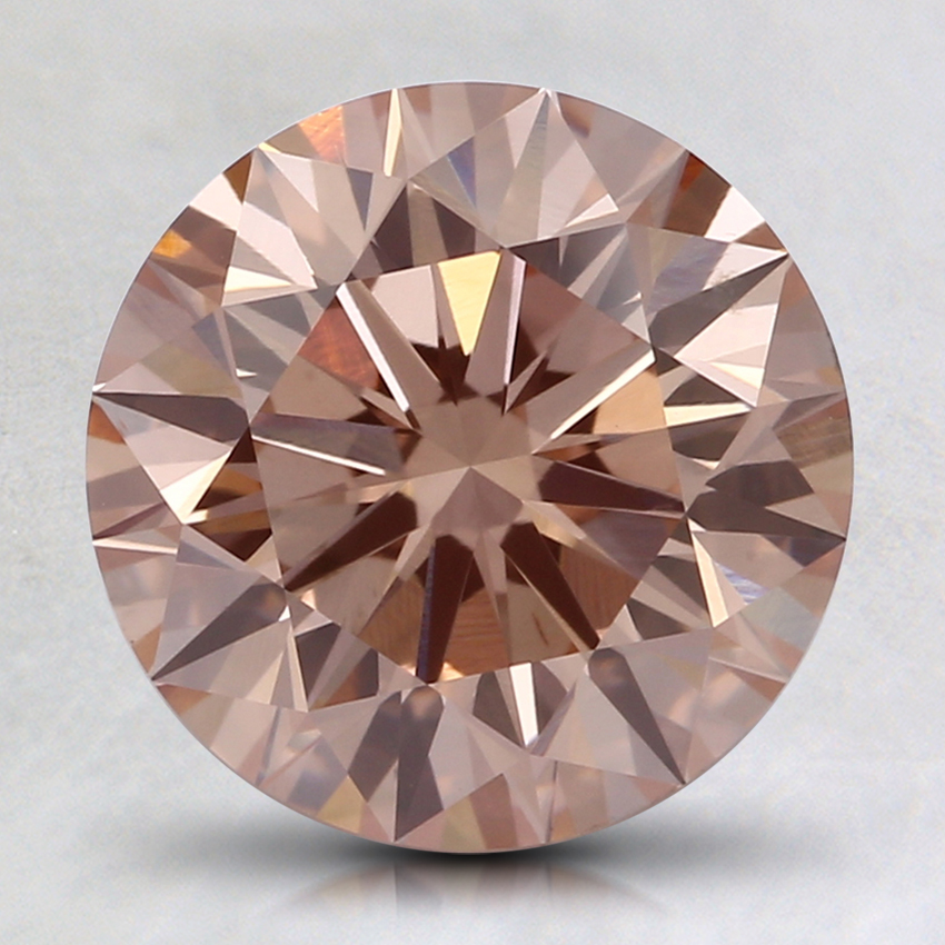2.23 Ct. Fancy Brownish Pink Round Lab Created Diamond