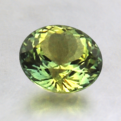 6.5mm Green Round Sapphire, top view