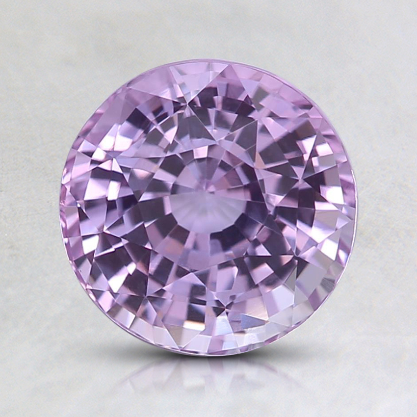 7.2mm Unheated Pink Round Sapphire