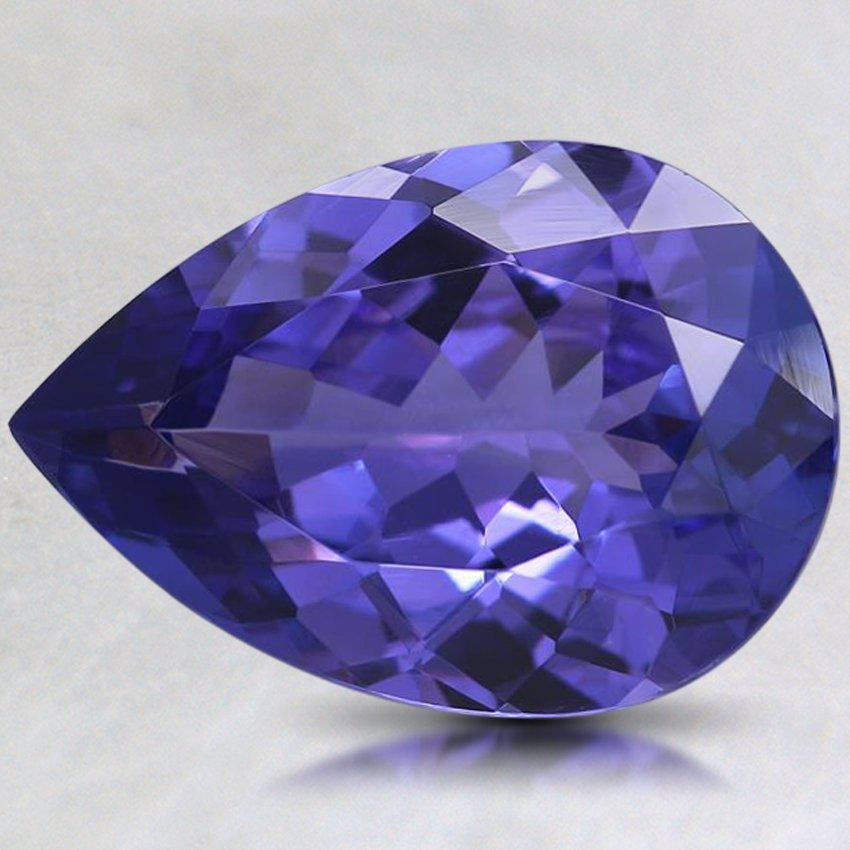 16.5x11.5mm Premium Purple Pear Tanzanite