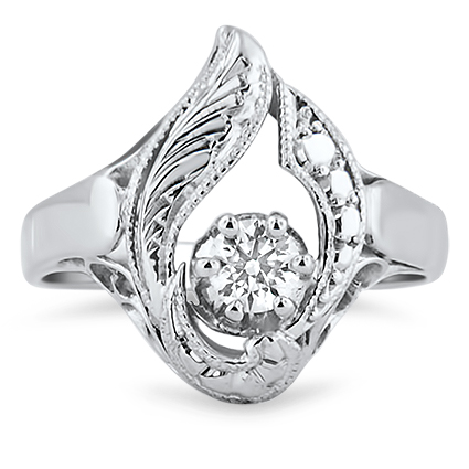The Paisley Ring, top view