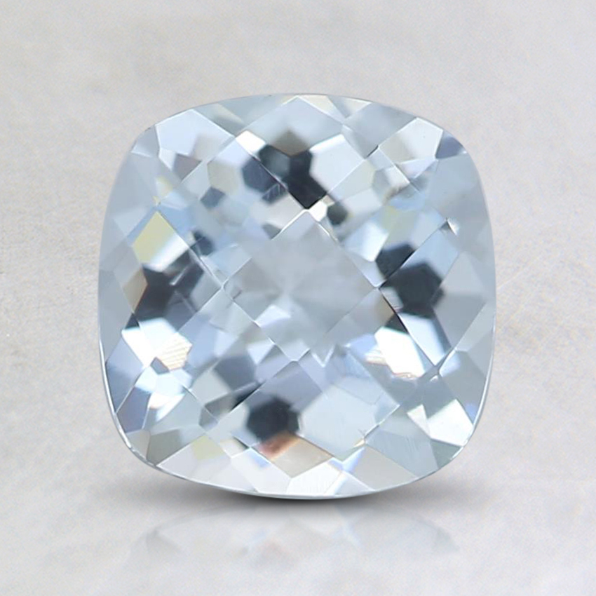 6.9x6.6mm Fine Cushion Aquamarine