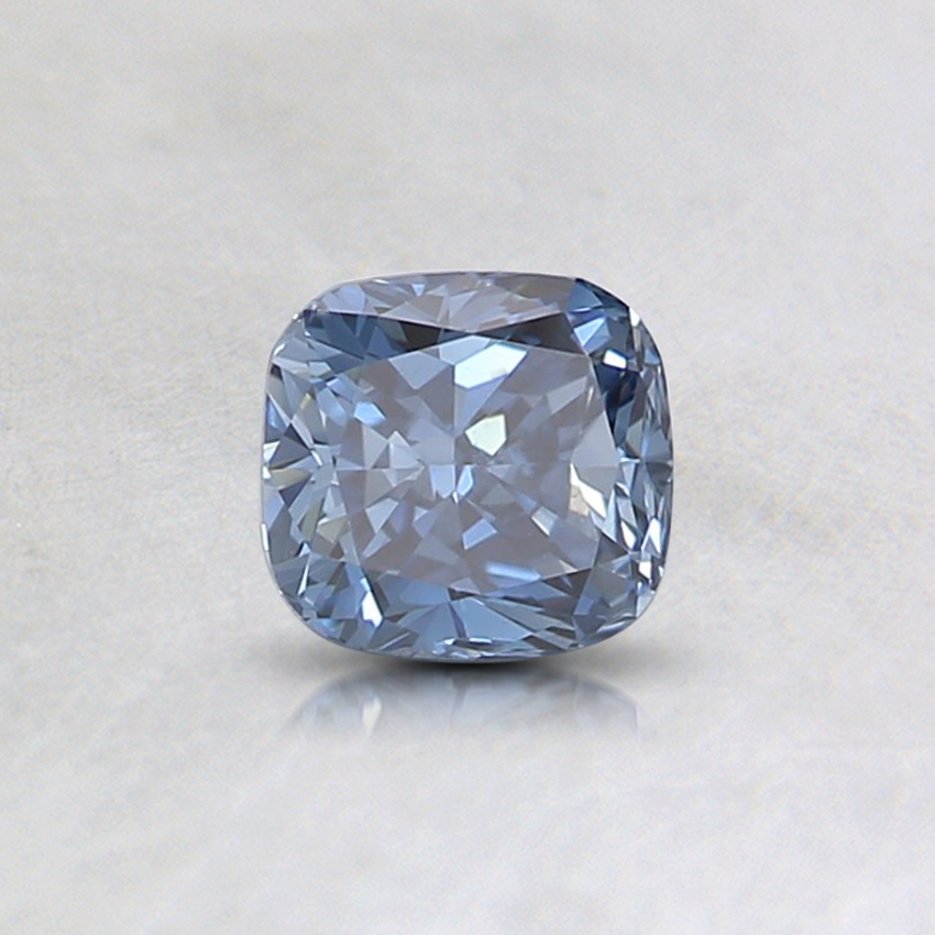 0.41 Ct. Fancy Intense Blue Cushion Lab Created Diamond