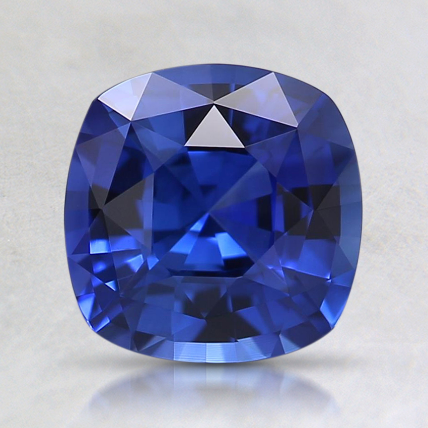 7.1mm Super Premium Blue Cushion Sapphire