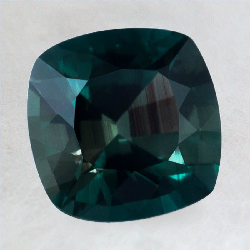 8mm Super Premium Green Cushion Sapphire, top view