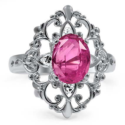 The Barbarella Ring, top view