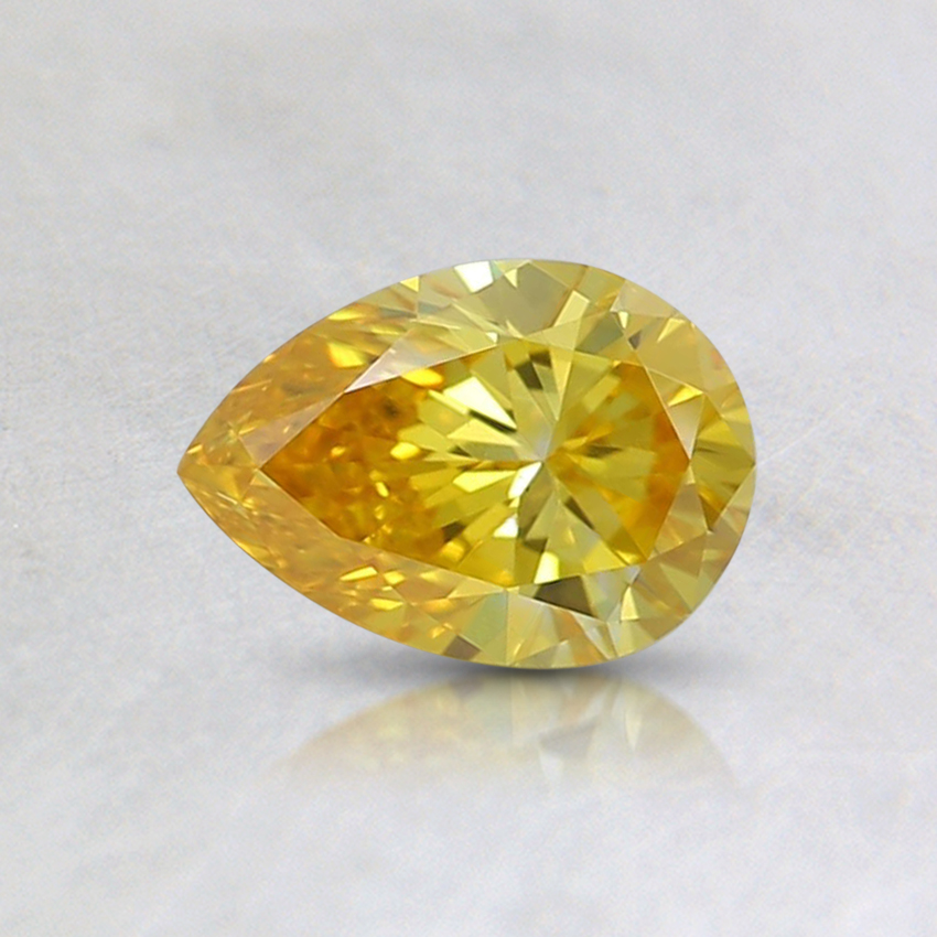 0.5 Ct. Fancy Vivid Orangy Yellow Pear Lab Created Diamond