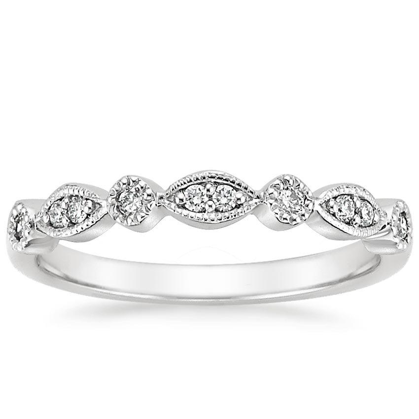 18k white gold tiara ring top view