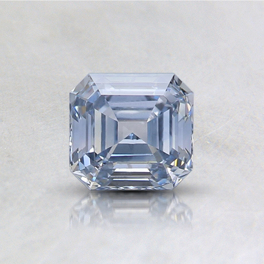 0.55 Ct. Light Blue Emerald Lab Created Diamond