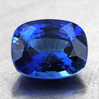 7.3x5.8mm Blue Cushion Sapphire, top view