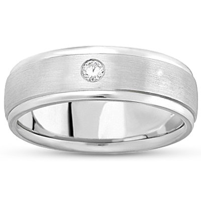 18K White Gold Intrepid Ring, top view