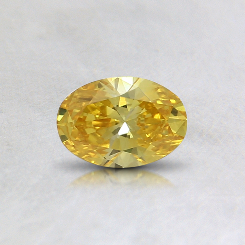 0.32 Ct. Fancy Vivid Orange-Yellow Oval Lab Created Diamond