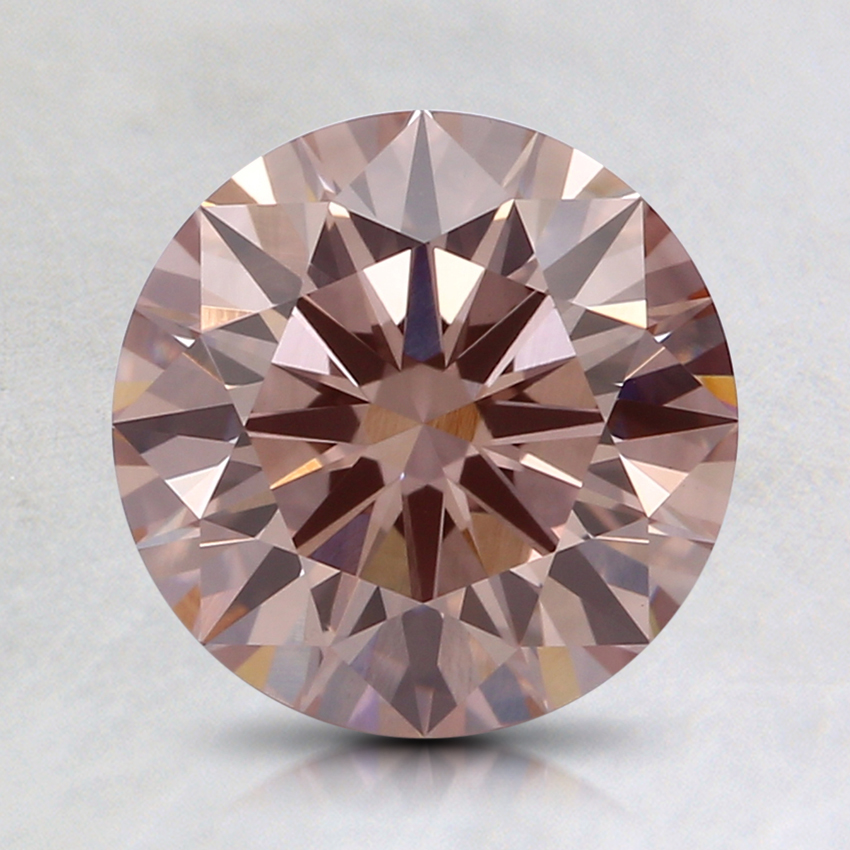 1.59 Ct. Fancy Brownish Pink Round Lab Created Diamond