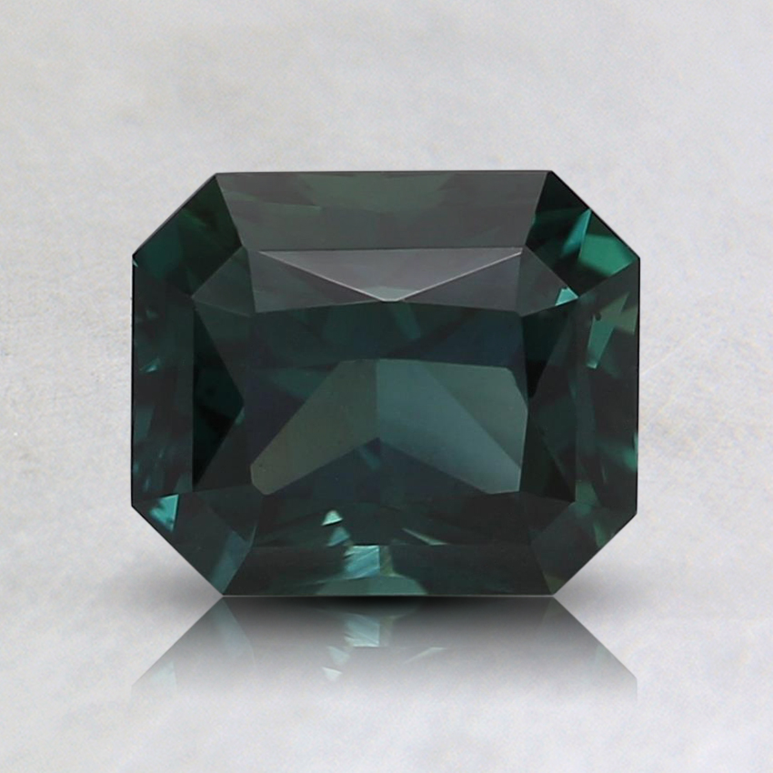 6.6x5.6mm Teal Radiant Sapphire