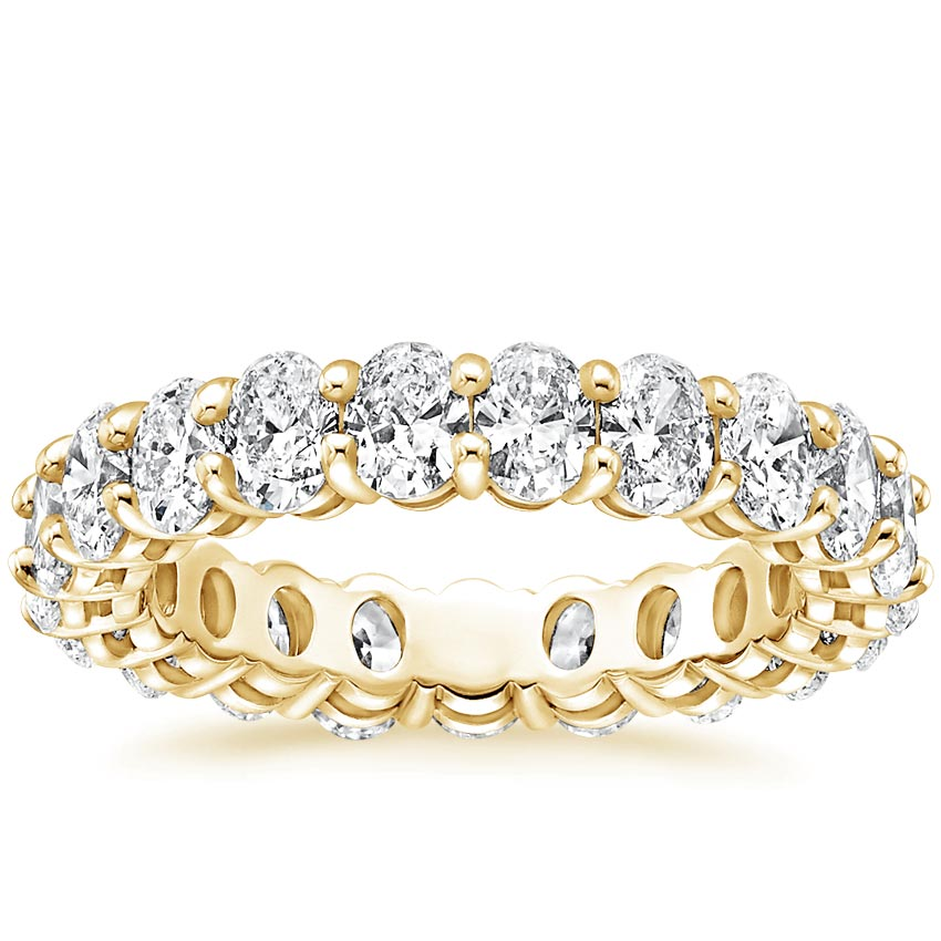 Yellow Gold Oval Eternity Diamond Ring (3 ct. tw.)