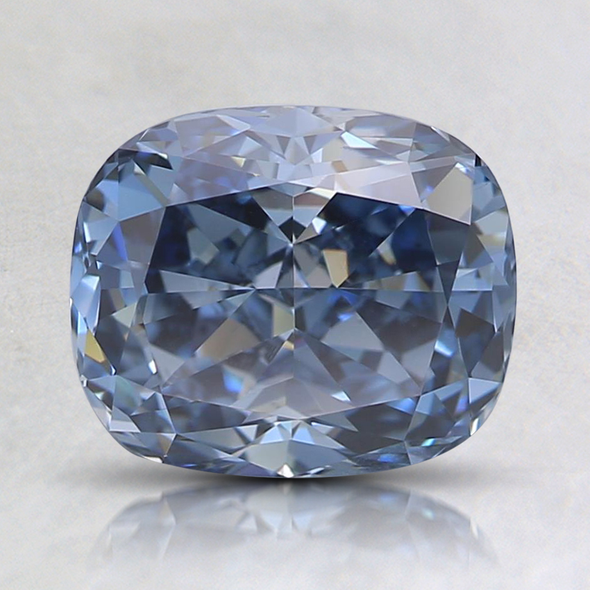 1.61 Ct. Fancy Intense Blue Cushion Lab Created Diamond