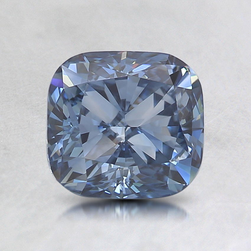 1.16 Ct. Lab Created Fancy Deep Blue Cushion Diamond