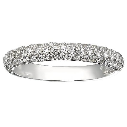 Pavé Diamond Multi Row Ring (over 1/2 ct.tw.) in 18K White Gold
