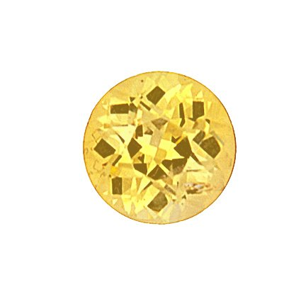 6.5mm Yellow Round Sapphire, top view