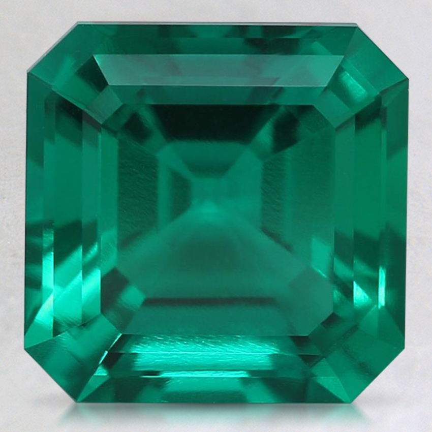 9mm Asscher Lab Created Emerald