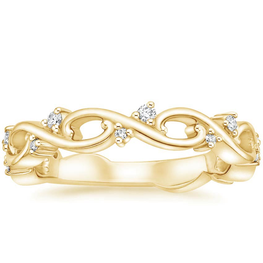 Yellow Gold Wisteria Diamond Ring