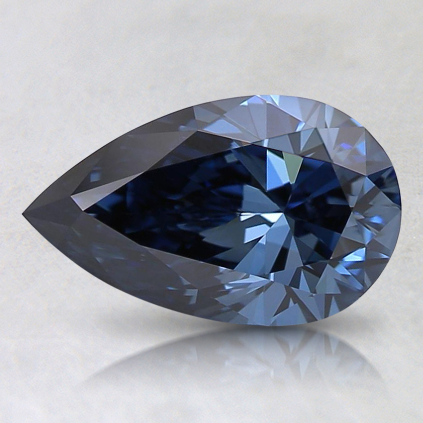 1.01 Ct. Fancy Deep Blue Pear Lab Created Diamond