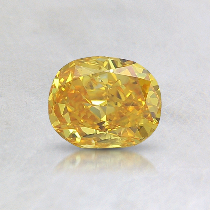 0.57 Ct. Fancy Vivid Yellow Cushion Lab Created Diamond