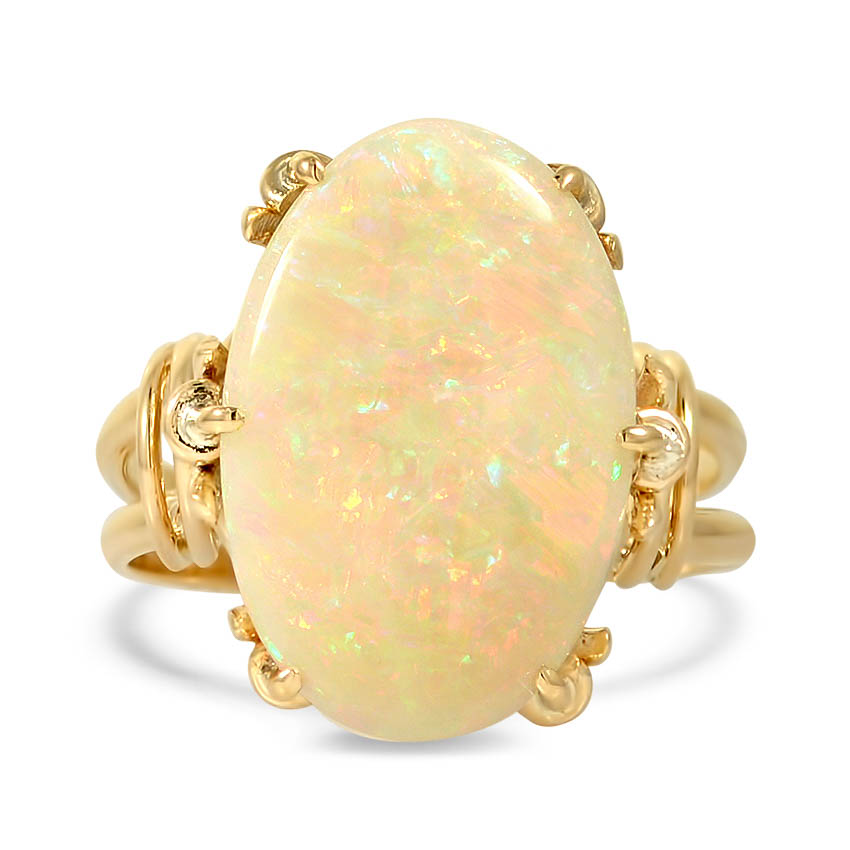 Modern Opal Cocktail Ring