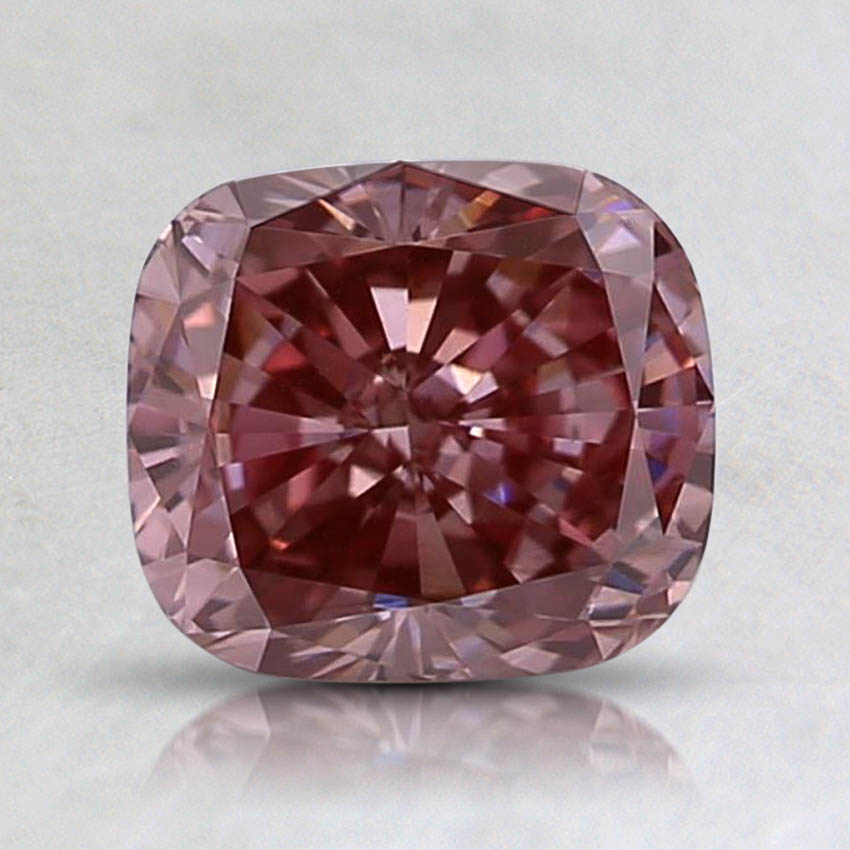 0.62 Ct. Fancy Brownish Pink Cushion Lab Created Diamond