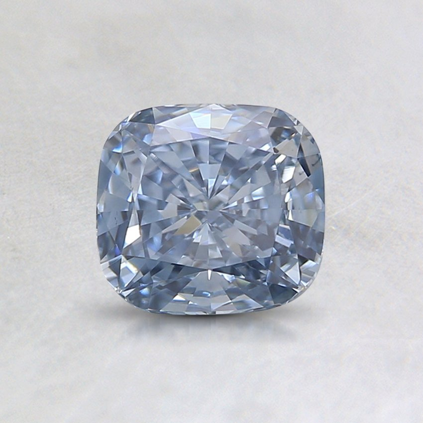 0.85 Ct. Lab Created Fancy Blue Cushion Diamond