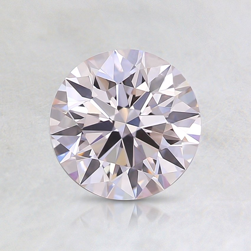 0.91 Ct. Fancy Faint Pink Round Lab Created Diamond