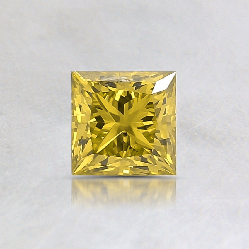 0.52 Ct. Fancy Intense Yellow Princess Lab Created Diamond