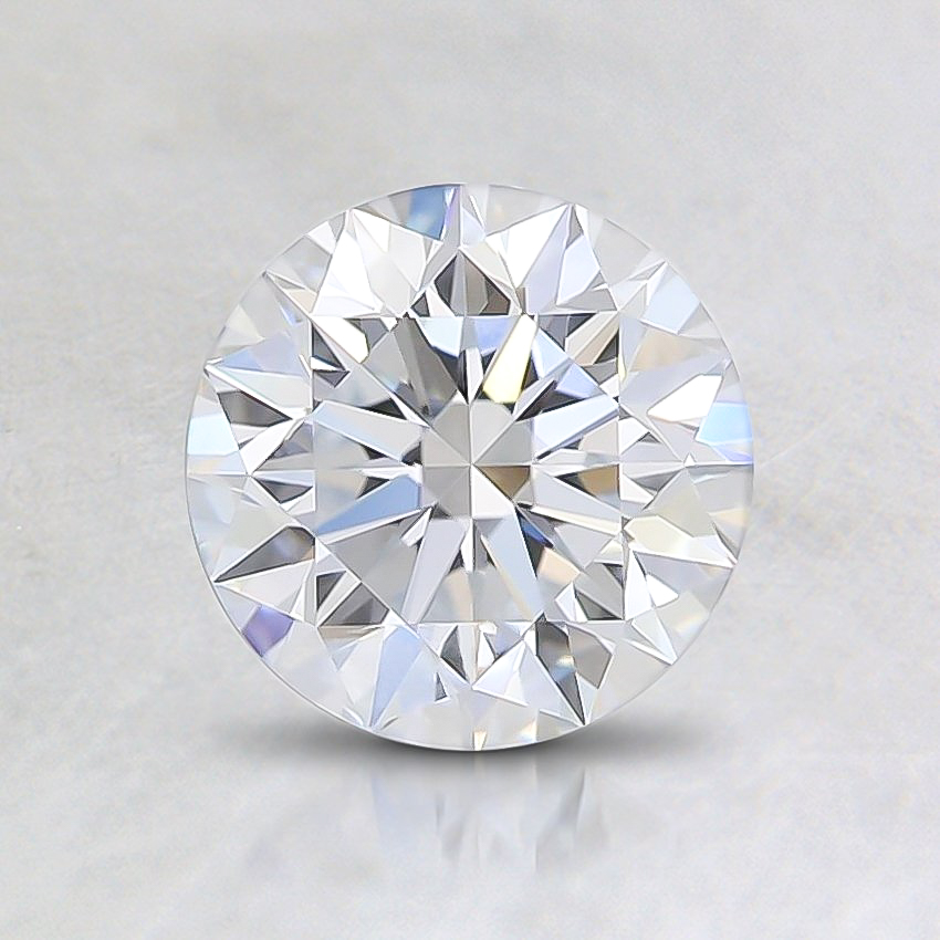 0.90 Ct. Fancy Faint Blue Round Lab Created Diamond