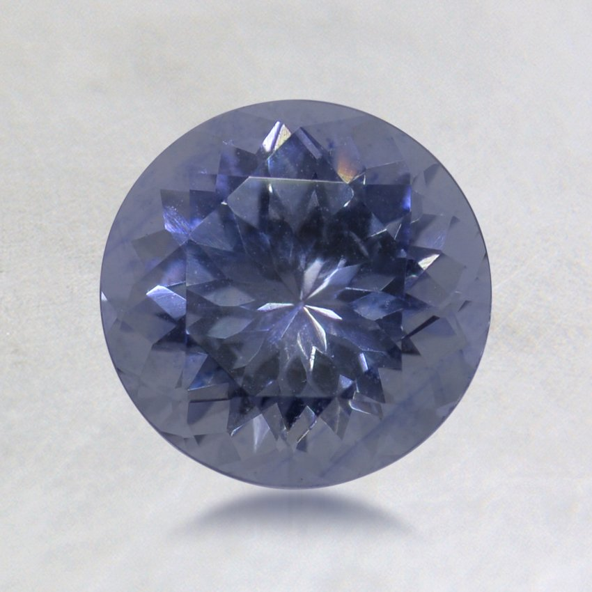 6.75mm Montana Blue Round Sapphire, top view