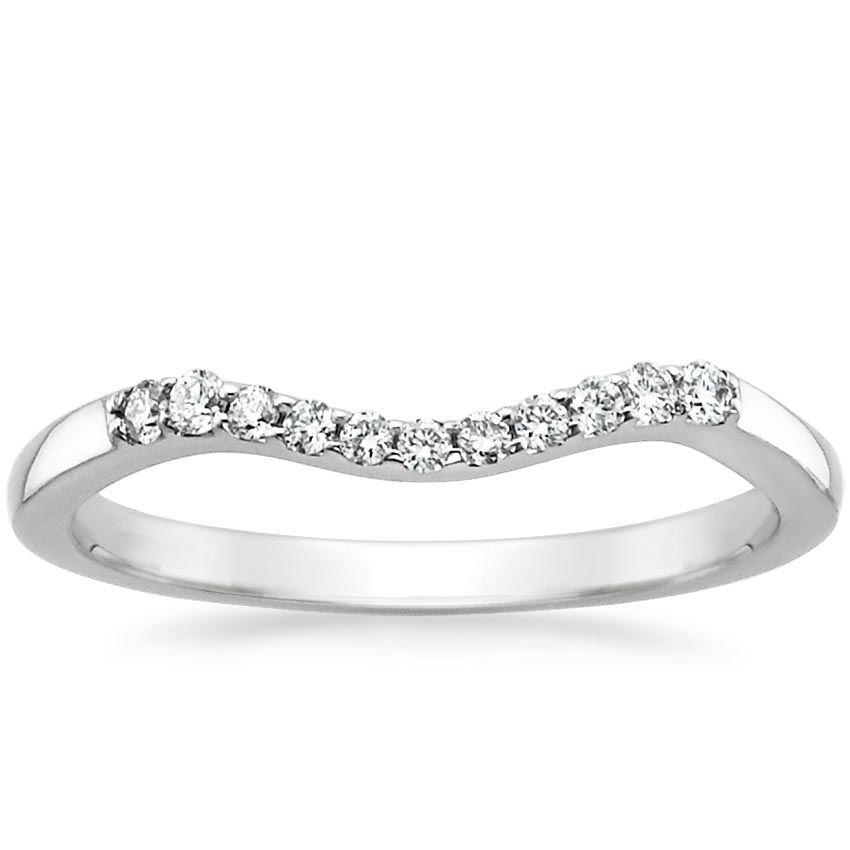 Chamise Contoured Diamond Ring in Platinum