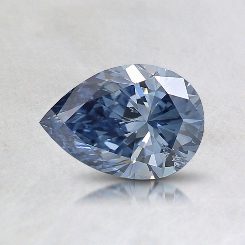 0.58 Ct. Fancy Vivid Blue Pear Lab Created Diamond