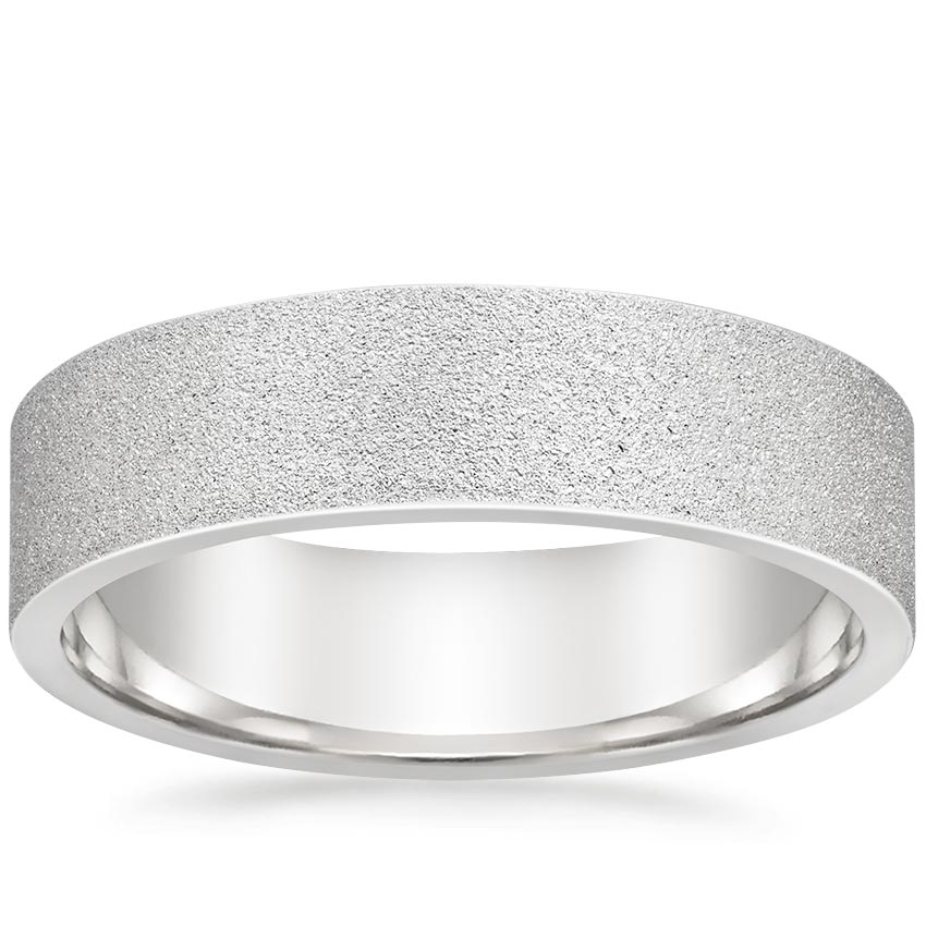 5mm Mojave Sandblast Wedding Ring in Platinum