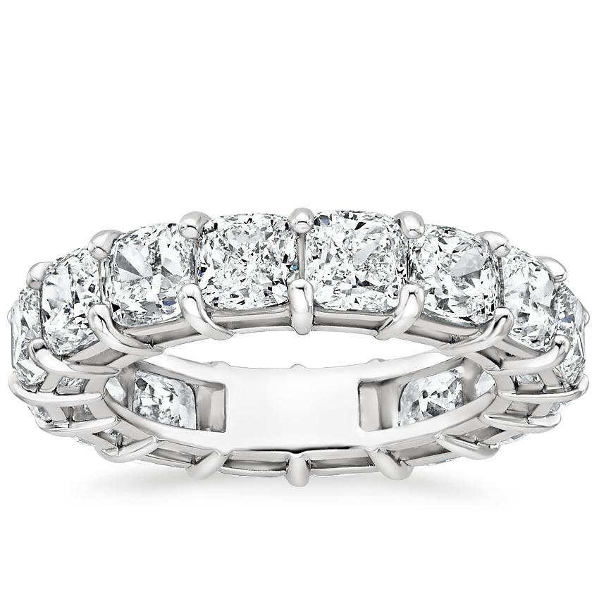 Cushion Eternity Diamond Ring (6 ct. tw.) in 18K White Gold