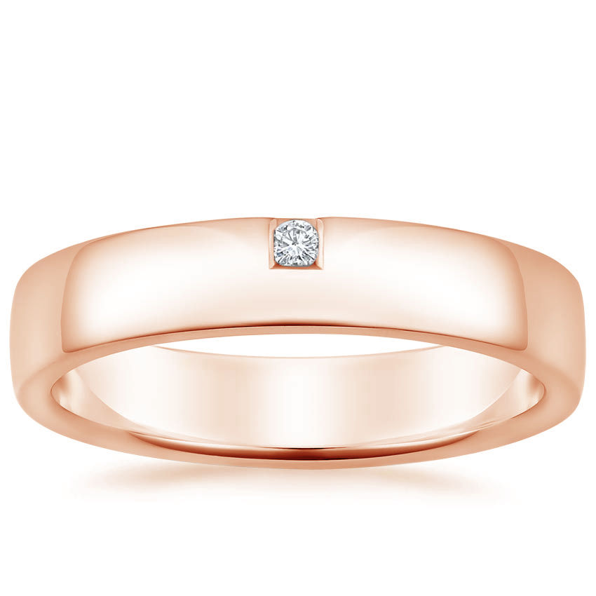 Rose Gold Beacon Diamond Ring