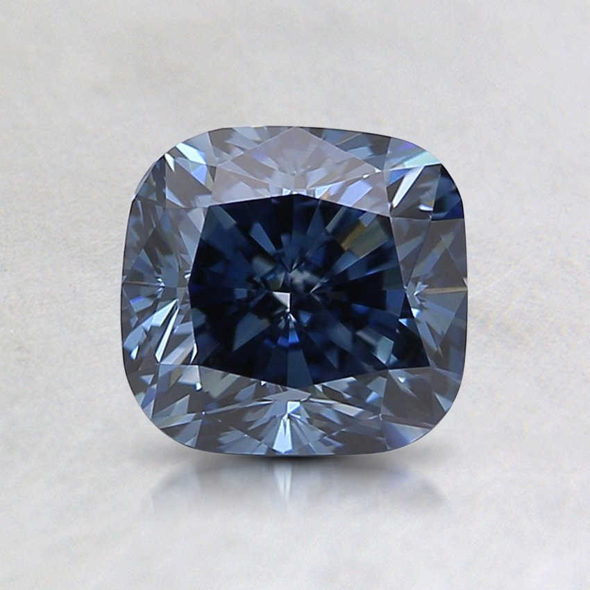 1.26 Ct. Lab Created Fancy Intense Blue Cushion  Diamond