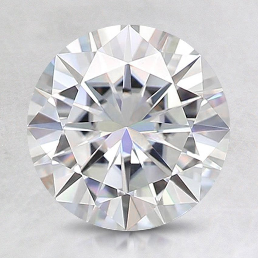 8mm Super Premium Round Moissanite, top view
