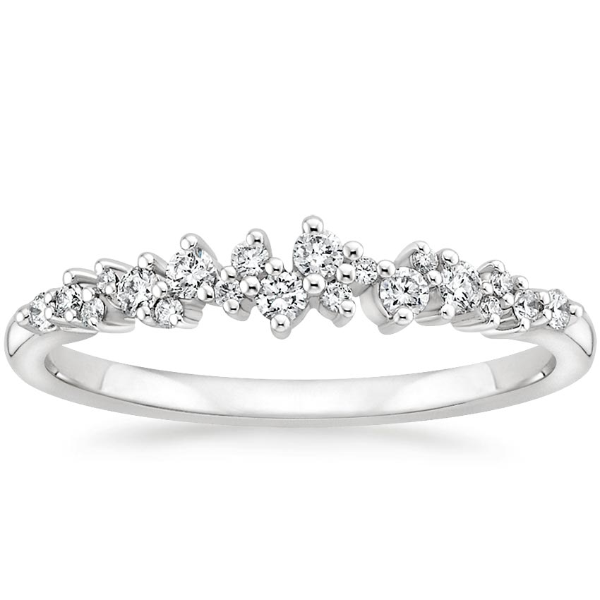 Aurora Diamond Ring in Platinum
